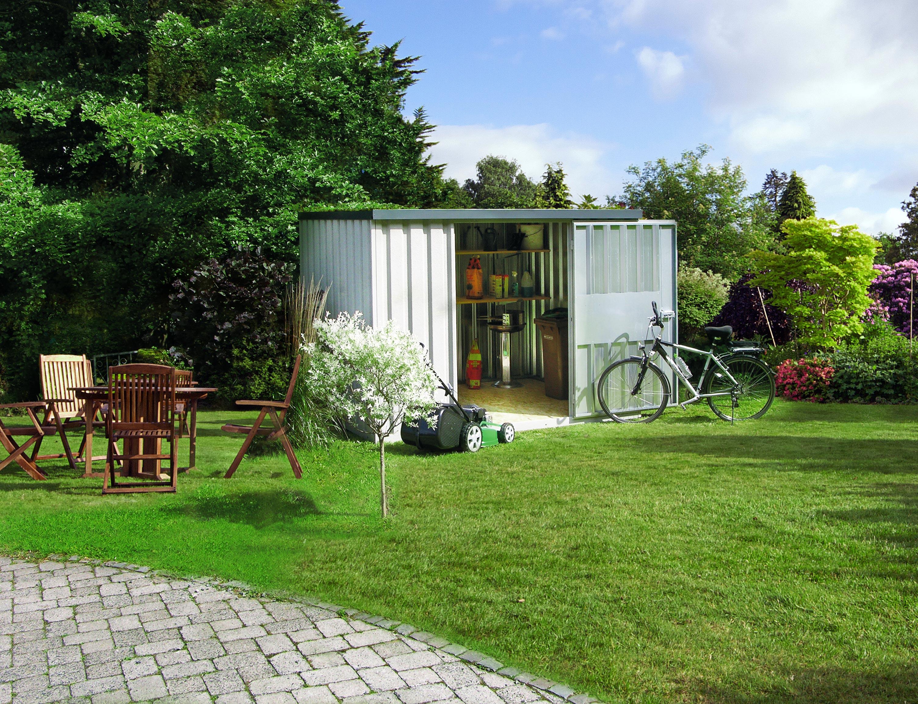 Lagerhalle bauwagen halle gartenhaus kleinlagerhalle - Container als gartenhaus ...